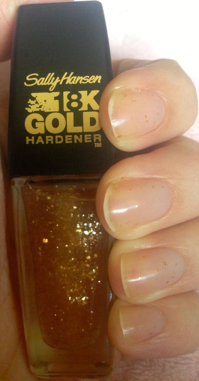 Sally Hansen 18K Gold Nail Hardener – Review | prettyhonestbeautyblog