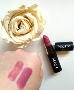 NYX Matte Lipstick Tea Rose Review Swatch